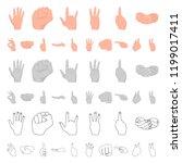 hand gesture cartoon icons in...   Shutterstock .eps vector #1199017411