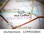 hot coffee. mississippi. usa on ... | Shutterstock . vector #1199023804