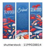 seafood banner  vector... | Shutterstock .eps vector #1199028814