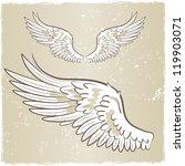 angel wings | Shutterstock .eps vector #119903071