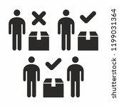 safe handling of heavy and... | Shutterstock .eps vector #1199031364