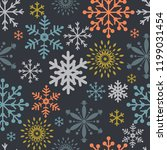 seamless christmas pattern with ... | Shutterstock .eps vector #1199031454
