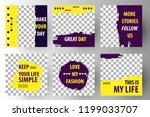 editable post template social... | Shutterstock .eps vector #1199033707