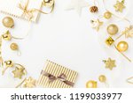 christmas background. flat lay... | Shutterstock . vector #1199033977