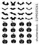 collection of halloween... | Shutterstock .eps vector #1199035261