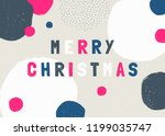 christmas design with text ... | Shutterstock .eps vector #1199035747