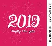 happy new year 2019. universal... | Shutterstock .eps vector #1199036614