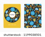 cover design with floral... | Shutterstock .eps vector #1199038501