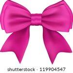 pink gift satin ribbon bow on... | Shutterstock .eps vector #119904547