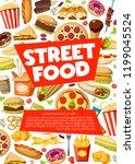 street food  fastfood...   Shutterstock .eps vector #1199045524