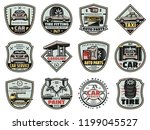 car service  gas station and... | Shutterstock .eps vector #1199045527