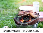 cooking to camping in the woods.... | Shutterstock . vector #1199055607