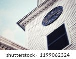 Close Up Of Clock On An Old...