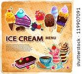 ice cream menu | Shutterstock .eps vector #119907091