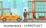 taxi and driver services in... | Shutterstock .eps vector #1199071417