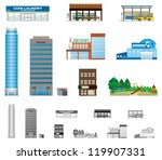 the building of the city | Shutterstock .eps vector #119907331