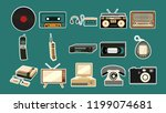 set of stickers of old retro... | Shutterstock .eps vector #1199074681