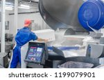 cutter for grinding meat.... | Shutterstock . vector #1199079901