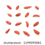 goji berry isolated on white... | Shutterstock . vector #1199095081