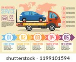 car delivery and assistance... | Shutterstock .eps vector #1199101594