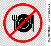 cutlery. plate fork and knife.... | Shutterstock .eps vector #1199102821