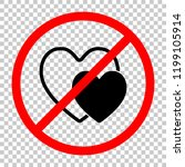 2 hearts. simple icon. not... | Shutterstock .eps vector #1199105914