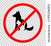 cat and dog icon. not allowed ... | Shutterstock .eps vector #1199106001