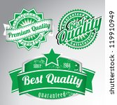 premium quality vintage labels | Shutterstock .eps vector #119910949
