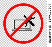 laptop repair service. not... | Shutterstock .eps vector #1199112304