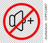 volume plus icon. not allowed ... | Shutterstock .eps vector #1199112847
