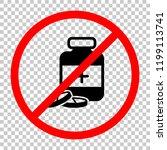 pills and medicine bottle. not... | Shutterstock .eps vector #1199113741