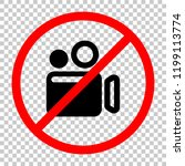 simple video camera icon. not... | Shutterstock .eps vector #1199113774