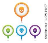 set of skull marker icons | Shutterstock .eps vector #1199114197