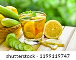 detox water drink with lemon... | Shutterstock . vector #1199119747