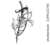 vector floral ornament for your ... | Shutterstock .eps vector #1199121754