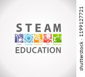 steam stem education concept... | Shutterstock .eps vector #1199127721