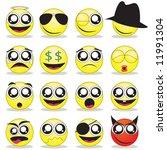 smilies | Shutterstock .eps vector #11991304