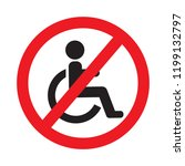 no disabled person prohibition... | Shutterstock .eps vector #1199132797