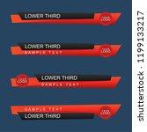 lower third design template.... | Shutterstock .eps vector #1199133217