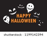 happy halloween   color... | Shutterstock . vector #1199142394