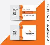 clean flat design orange fold... | Shutterstock .eps vector #1199143141