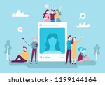 social network photo post.... | Shutterstock .eps vector #1199144164