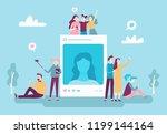 social network photo post.... | Shutterstock .eps vector #1199144164