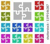 puzzle icon in multi color...
