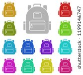backpack schoolbag icon in... | Shutterstock .eps vector #1199146747
