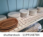 kitchenware on shelf in country ...   Shutterstock . vector #1199148784