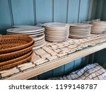 kitchenware on shelf in country ...   Shutterstock . vector #1199148787