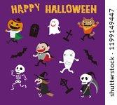 halloween monsters illustration ... | Shutterstock .eps vector #1199149447