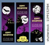 halloween banners leaflets... | Shutterstock .eps vector #1199152984