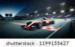 race driver pass the finishing...   Shutterstock . vector #1199155627